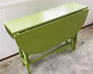 apple green gateleg table