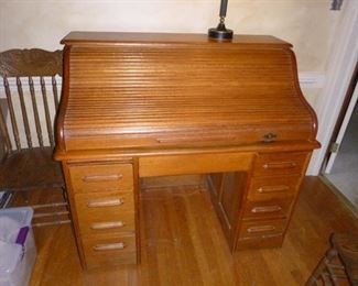 Antique roll top desk