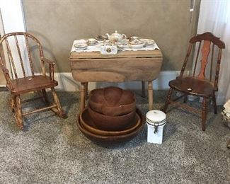 Children's Chairs and Childs Table