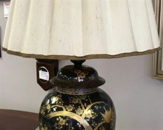 Chinese vintage table lamp. Swag, floor and table lamps, various styles.