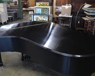"Steinway & Sons 1969 Model ""B"" 7' Black Satin Grand Piano #412052"