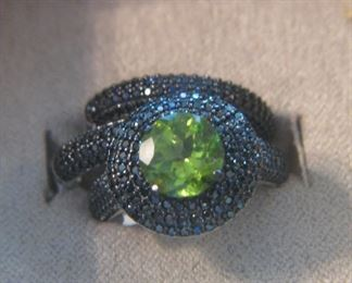Peridot and Spinel Ring