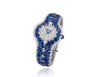 Lot 289 Chopard Diamond  Sapphire Watch