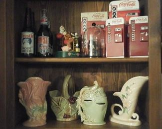 Coke Collectibles, Pepsi, Frosty Root Beer, Hull, McCoy pottery
