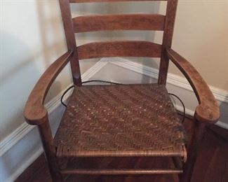 Vintage Cane Bottom Arm Chair