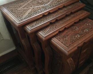 Unique Nesting Asian Table Set