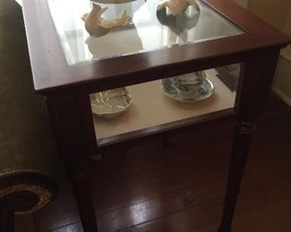 Glass Display End Tables (2)
