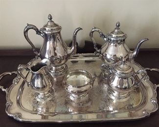 Silver Plated Tea Service by Rogers Bros. (Remembrance)