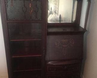 Vintage Mirrored Secretary