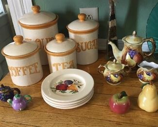Ceramic Kitchen Canister Set/ Fruit Kitchenwares