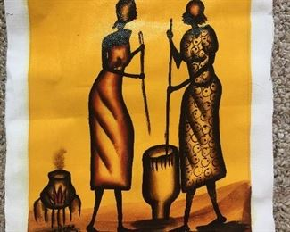 Painted African Inspired Canvas Cloth by Kamato Rose