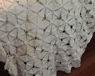 Vintage Hand Crotched Coverlet