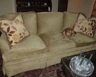 One of several upholstered sofas