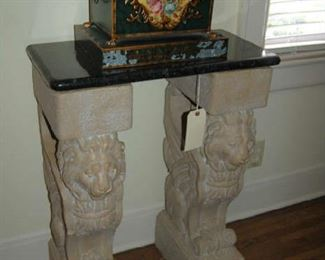 Console with tole planter