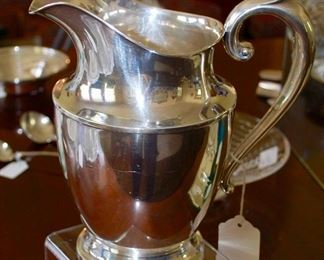 Wallace sterling water pitcher