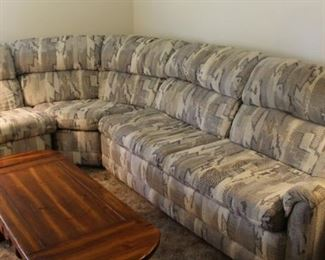 Wonderful like new sectional sofa with recliner and sleeper.  Nice!