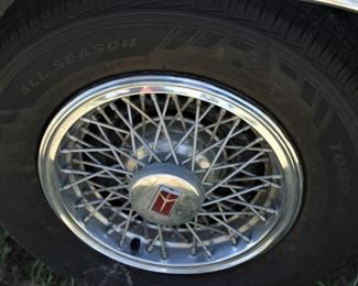 Wire wheels are very sharp looking.