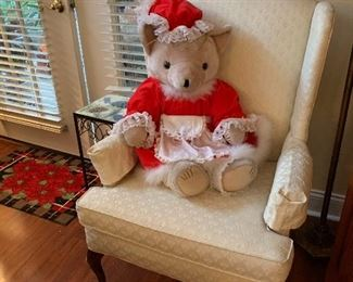 Miss clause and a wing back chair