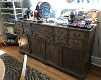 """Gorgeous useful sideboard or entertainment piece 72""""w x 23""""d x 39.5""""h asking $640"""