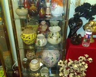 Beatuful colored and ornate vases as well as imported ones
