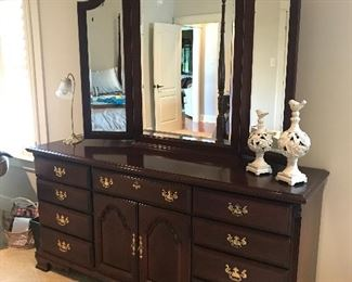 Sumter Cabinet Company, Triple Dresser with Mirror, solid mahogany.  Excellent condition.  $350.