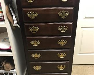 Kincaid, Lingere Cabinet, solid mahogany.  Excellent Condition.  $200