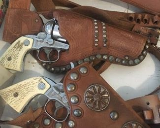 Nichols Stallion 38, and Mattell Fanner 50 cap guns