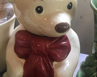 Metlox bear cookie jar