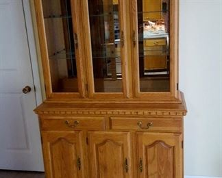Great two piece hutch - check out our Pinterest page for ideas!