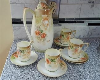 RS Germany ANTIQUE Porcelain Tea / Coffee set