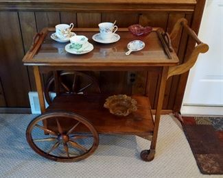 vintage tea/serving cart