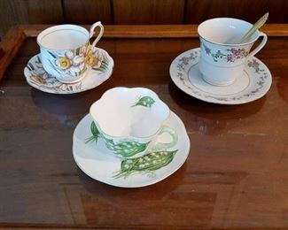 Royal Albert and Shelley Teacup and Saucer (Lily of the Valley)