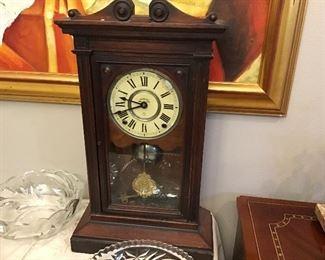 Antique Seth Thomas clock.