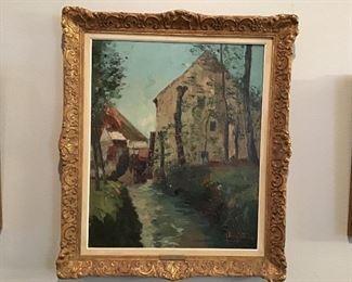 Original antique oil painting