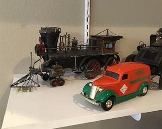 Decorative metal cars.