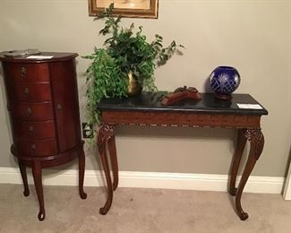 Jewelry chest and entry table