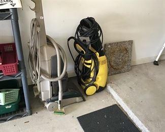 Carpet shampooed and pressure washer.