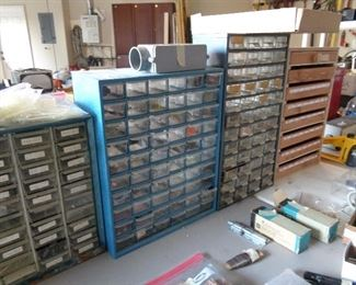 storage units full of smaller pieces