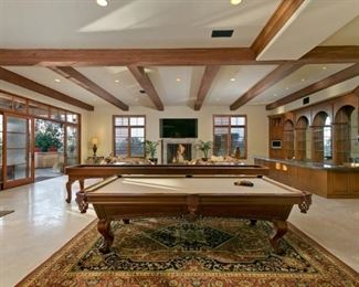 Pool Table And Shuffleboard Table  Rugs