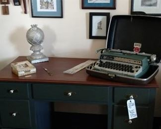 Vintage Smith Corona Type Writer, Desk