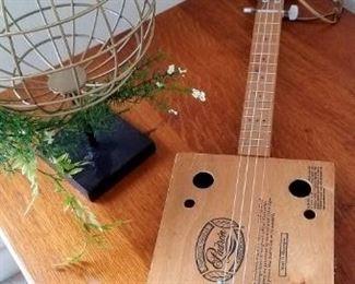nice cigar box electrified guitar