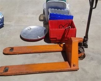 one of two pallet jacks
