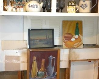 KITCHENWARE AND PAINTINGS