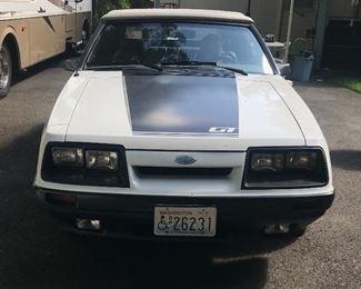 Original owner 111,000 miles 1985 GT Mustang  Soft top convertible Fox body No pony 5 liter  5 speed