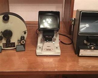 Paillard-Bolex Weberling System N8/S8 and Minette Viewer Editor S-5 aan Vernon Super Eight 8mm editor viewer