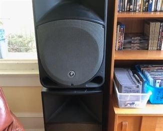 Pair of Thump TH-15A speakers. Not shown: new speaker stands.