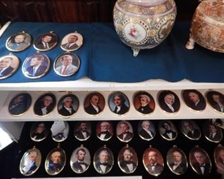 COLLECTION OF HAND PAINTED PORCELAIN PRESIDENTS