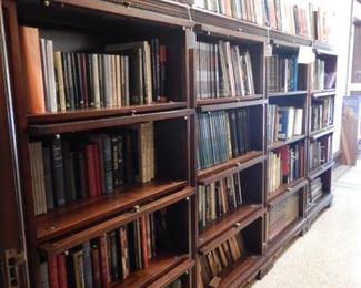 STACK BOOKCASES AND BOOKS