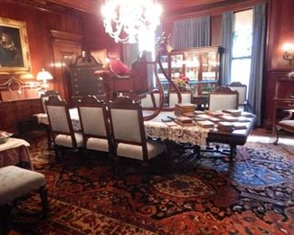 DINING ROOM-RUG, TABLE, CHAIRS, CHINA CABINET NOT FOR SALE