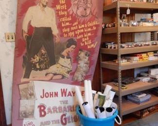 SPECTACULAR AND RARE JOHN WAYNE MOVIE POSTER MOCK-UP